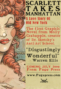 Molly Crabapple's Scarlett Takes Manhattan book